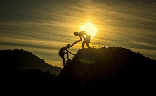Climbing up towards success is a struggle and you may need help from others