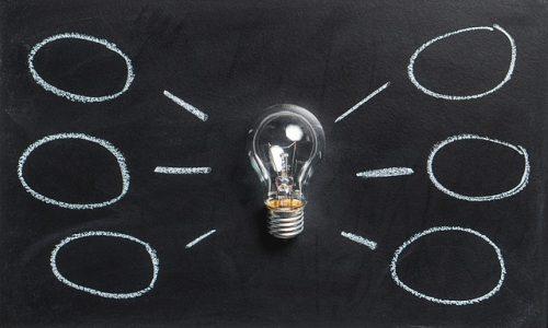 Lightbulb and a mindmap
