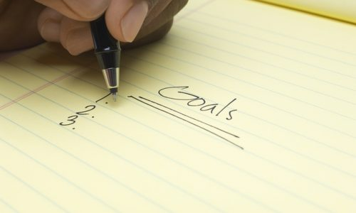 Writing out your goals